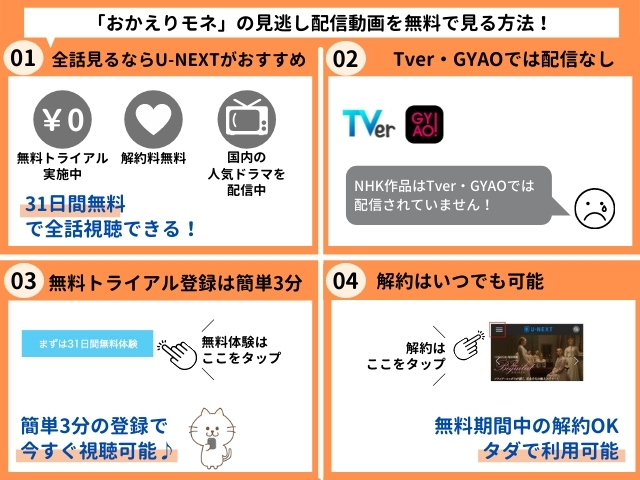 おかえりモネの見逃し配信動画を無料で視聴する方法