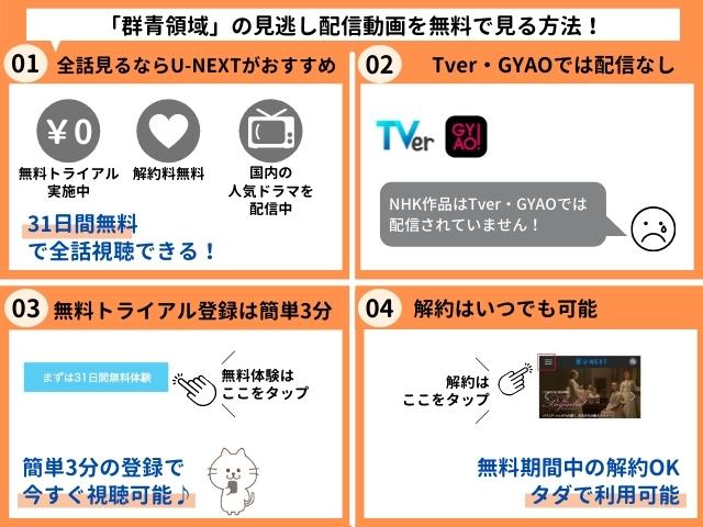 群青領域の見逃し配信動画を無料で視聴する方法